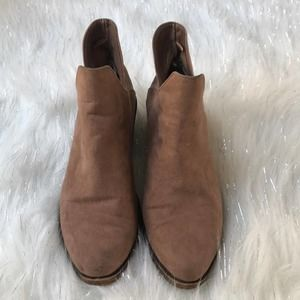 Forever 21 Brown Heeled Booties Size 6.5